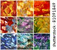 Picture, oil paints: set abstract backgrounds, hand paintings - stock photo