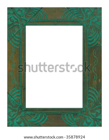 picture old frame - stock photo