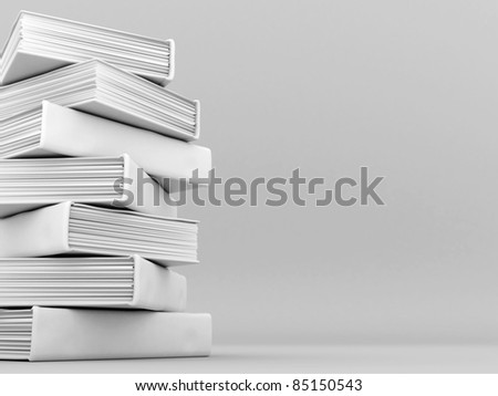 Picture pages,  Books bindings and Literature - stock photo