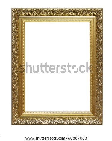 Picture photo frame to put your own pictures in (isolated with clipping path) - stock photo
