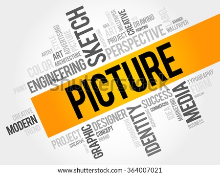PICTURE word cloud, business concept - stock photo
