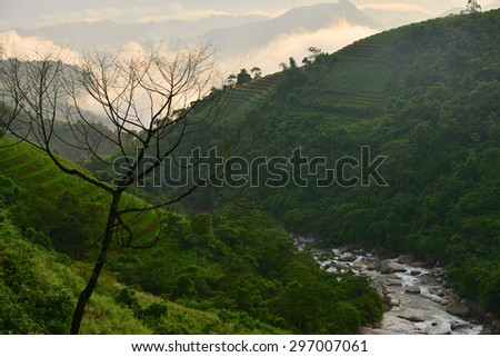 Pictures from trip to northern Vietnam . date 0914 - stock photo