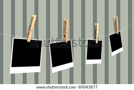 pictures hanging - stock photo