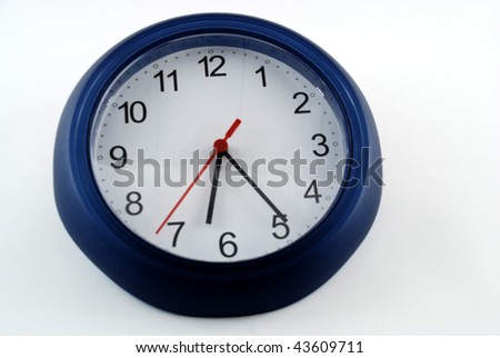 Pictures of a clock showing the passing to time
