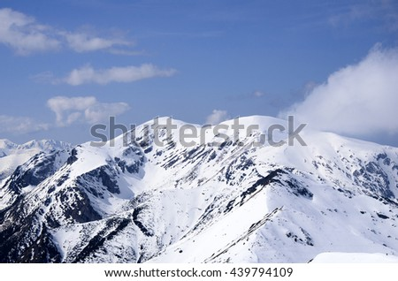 pictures of mountains in the winter scenery