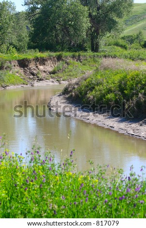 Pictures of the Oldman river in Lethbridge Alberta Canada