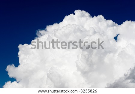 Pictures of the sky with white cloud.