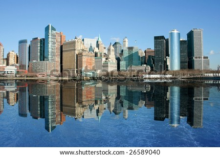 Pictures of the skyscrapers of Manhattan