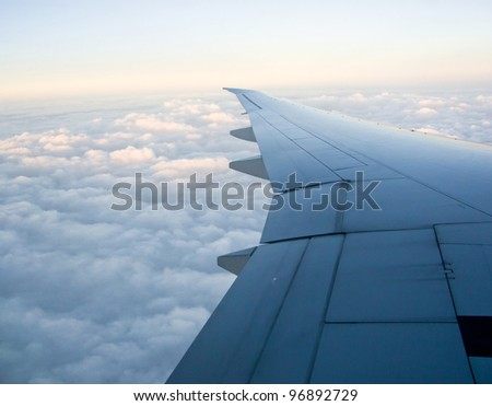 Pictures related to aviation and airplanes - stock photo