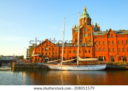 picturesque and very beautiful HDR photos Helsinki - stock photo