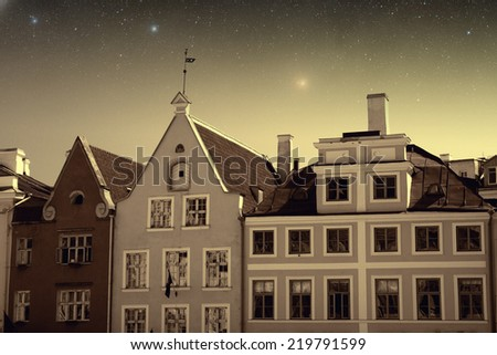 picturesque and very beautiful HDR photos of Tallinn. Elements of this image furnished by NASA  - stock photo