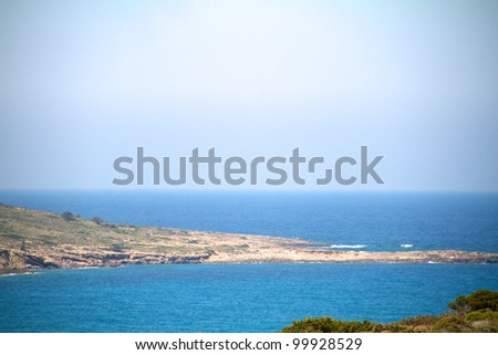 Picturesque beach on Rhodes