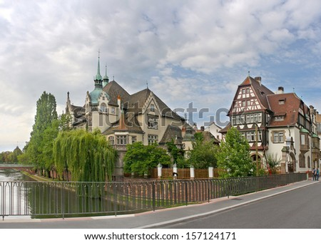 Picturesque buildings in Strasbourg, France