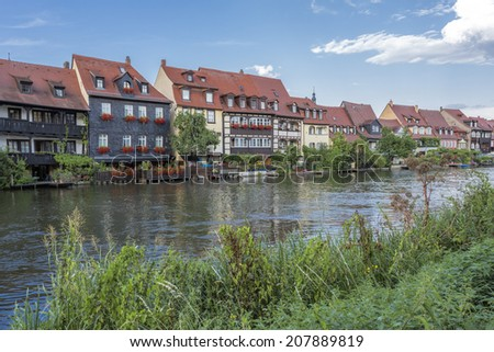 Picturesque houses in Bamberg, Germany