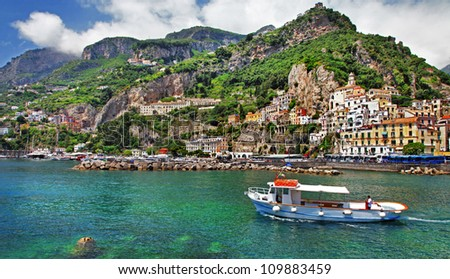 picturesque Italy - Amalfi - stock photo