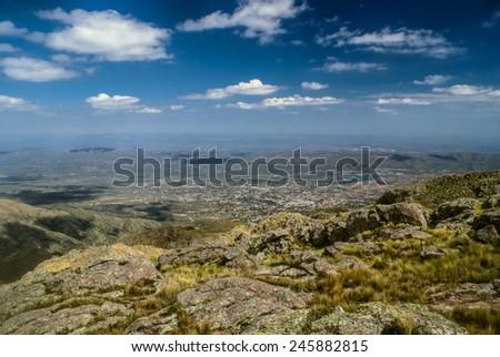 Picturesque landscape in Capilla del Monte in Argentina, South America - stock photo