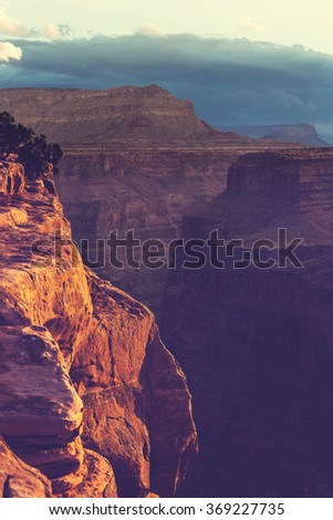 Picturesque landscapes of the Grand Canyon