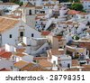 Picturesque, Mediterranean, white town of Colmenar. Andalusia. - stock photo