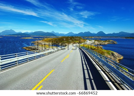 Picturesque Norway landscape. - stock photo