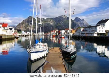 Picturesque Norway landscape. Lofoten Islands - stock photo