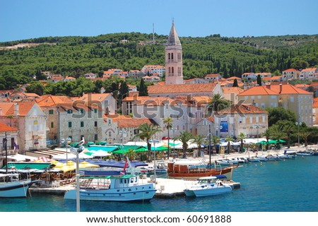 Picturesque scenic view on Supetar on Brac island, Croatia - stock photo