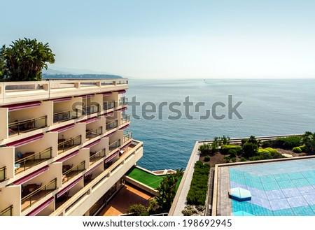 Picturesque seaside. Monte Carlo, Principality of Monaco  - stock photo