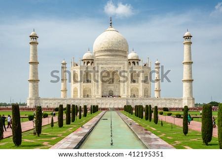 picturesque Taj Mahal, Agra, India - stock photo