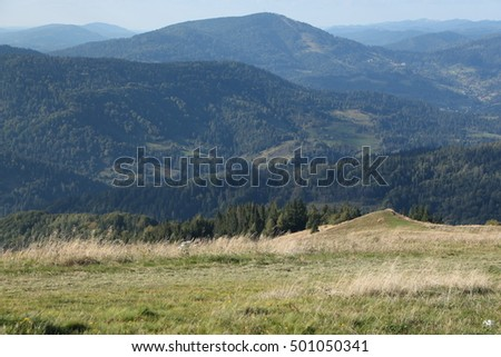 Picturesque View of Carpathian Mountains