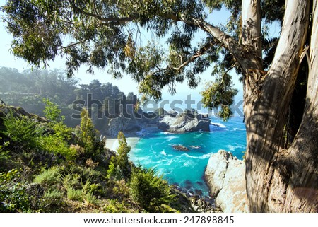 Picturesque view of the Northern California coastline.  - stock photo
