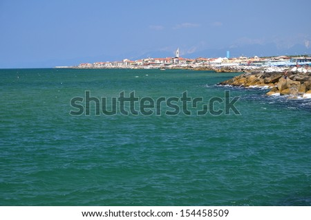 Picturesque view on beautiful beach in Marina di Pisa, Tuscany � Italy