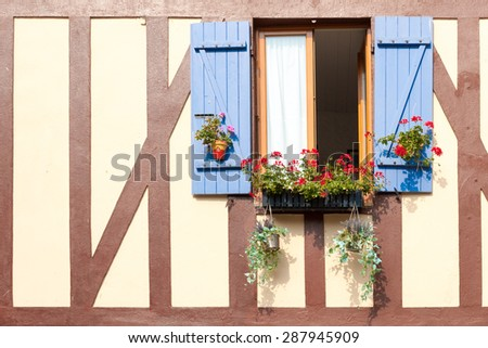 Picturesque village La Bouille in Upper Normandy, France - stock photo