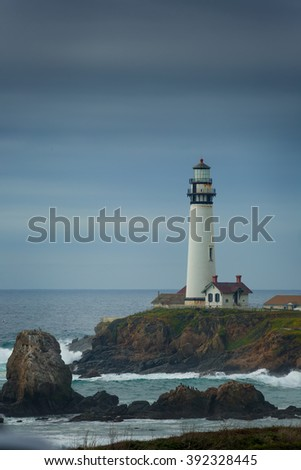 Pidgeon Point Lighthouse in California. - stock photo