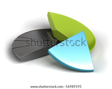 pie chart banner over a white background - stock photo