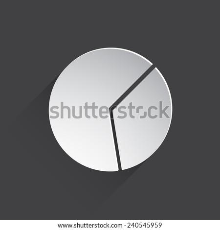 pie chart web flat icon illustration. - stock photo