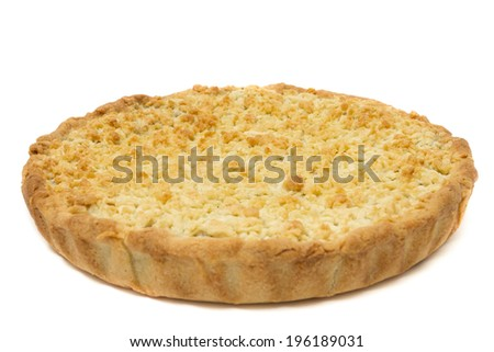 Pie dough, isolated