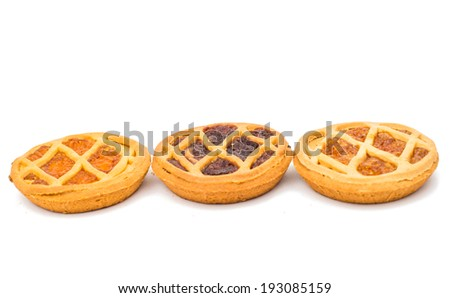 pie filling isolated on white background - stock photo