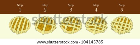 Pie Lattice - stock photo