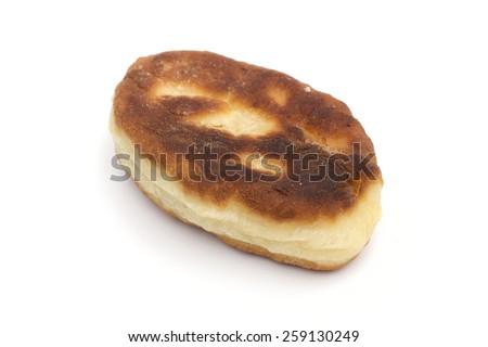 pie on the white background - stock photo