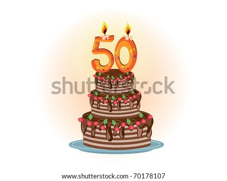 Pie to the fifty years - stock photo