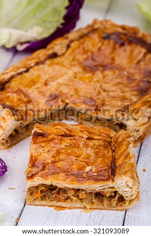 Pie with cabbage