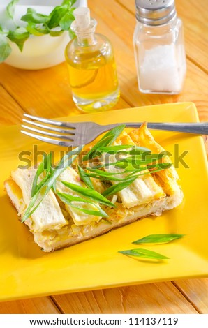 pie with fish - stock photo