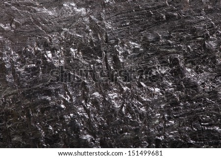 Piece coal closeup macro texture background - stock photo