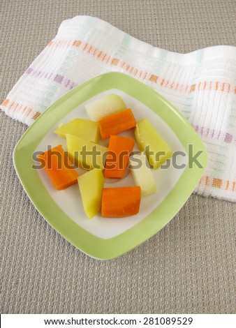 Piece food for babies for baby-led weaning - stock photo