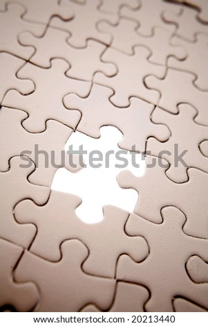 Piece missing from jigsaw puzzle