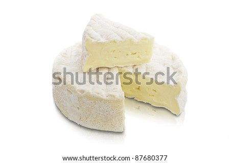 Piece of Brie Cream Cheese - stock photo