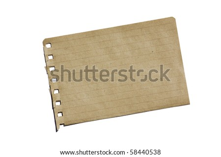 Piece of brown notebook paper background. - stock photo