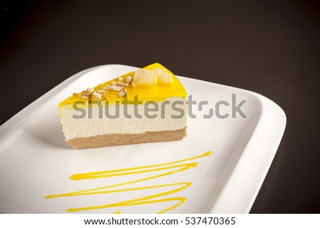 piece of cake on a white plate