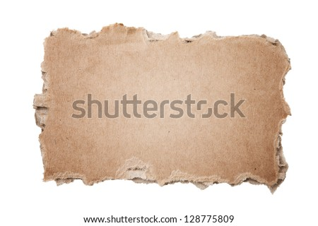 Piece of cardboard - stock photo