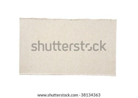 Piece of cardboard isolated on white background - stock photo