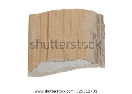 Piece of Cardboard Isolated White Background